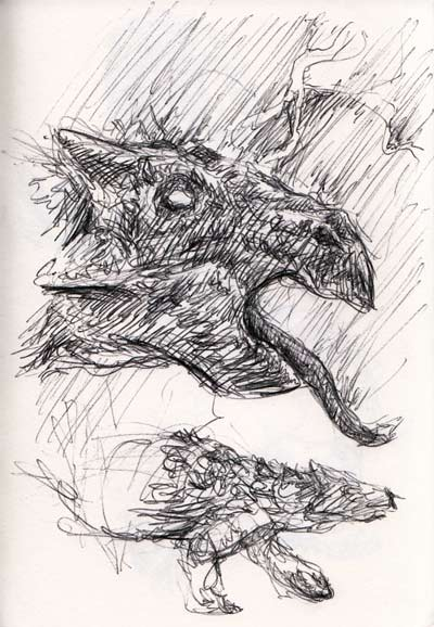 Study of the head of Gargoyelosaurus
